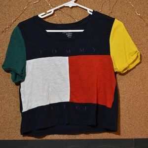 Tommy Hilfiger Women's Cropped Tee Size Small
